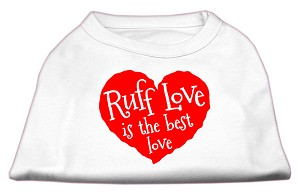 Ruff Love Screen Print Shirt White XS (8)