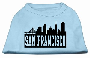San Francisco Skyline Screen Print Shirt Baby Blue XXL (18)