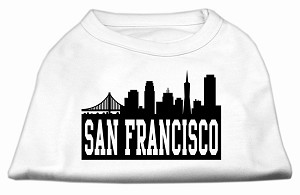 San Francisco Skyline Screen Print Shirt White Sm (10)