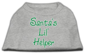 Santa's Lil' Helper Screen Print Shirt Grey XXL (18)