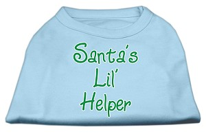 Santa's Lil' Helper Screen Print Shirt Baby Blue XL (16)