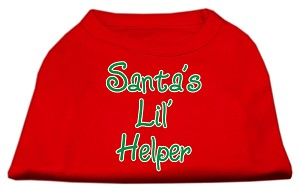 Santa's Lil' Helper Screen Print Shirt Red XL (16)