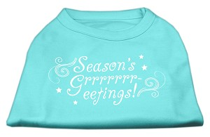 Seasons Greetings Screen Print Shirt Aqua XS (8)