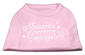 Seasons Greetings Screen Print Shirt Light Pink XS (8)