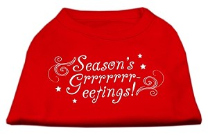 Seasons Greetings Screen Print Shirt Red XS (8)