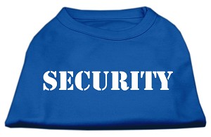 Security Screen Print Shirts Blue Lg (14)