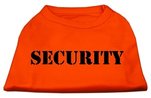 Security Screen Print Shirts Orange Lg (14)