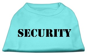 Security Screen Print Shirts Aqua w/ black text XS (8)