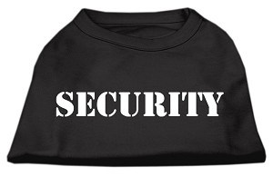 Security Screen Print Shirts Black w/ white text XS (8)