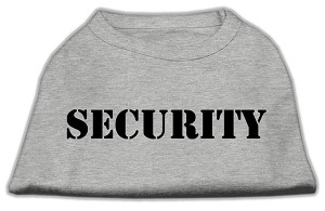 Security Screen Print Shirts Grey w/ black text XL (16)