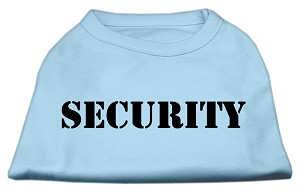 Security Screen Print Shirts Baby Blue w/ black text XL (16)