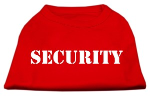 Security Screen Print Shirts Red w/ black text Lg (14)