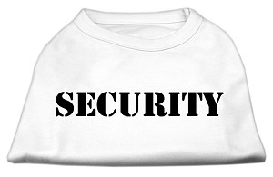 Security Screen Print Shirts White w/ black text XS (8)