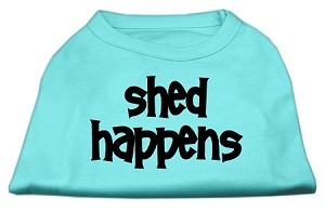 Shed Happens Screen Print Shirt Aqua XXL (18)
