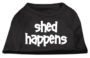 Shed Happens Screen Print Shirt Black Med (12)