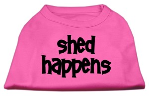 Shed Happens Screen Print Shirt Bright Pink XXL (18)