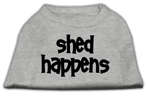 Shed Happens Screen Print Shirt Grey XS (8)
