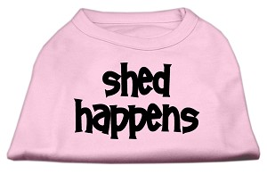 Shed Happens Screen Print Shirt Light Pink Lg (14)
