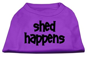 Shed Happens Screen Print Shirt Purple Med (12)