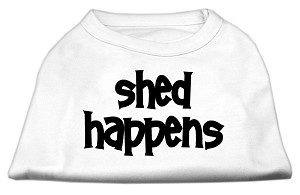 Shed Happens Screen Print Shirt White Sm (10)