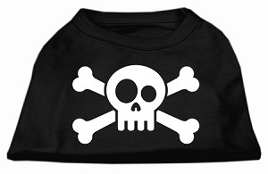 Skull Crossbone Screen Print Shirt Black XXXL (20)
