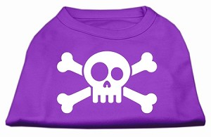 Skull Crossbone Screen Print Shirt Purple XXXL (20)