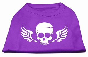Skull Wings Screen Print Shirt Purple XXL (18)