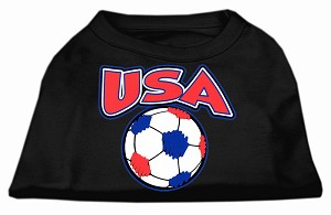 USA Soccer Screen Print Shirt Black XL (16)