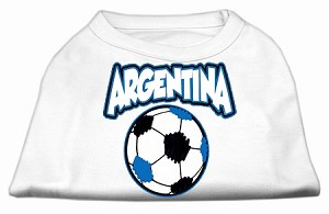 Argentina Soccer Screen Print Shirt White Med (12)