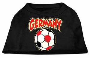 Germany Soccer Screen Print Shirt Black Med (12)