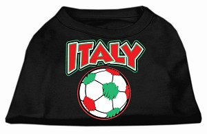 Italy Soccer Screen Print Shirt Black 4x (22)