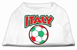 Italy Soccer Screen Print Shirt White Med (12)