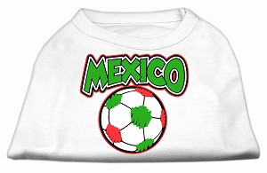 Mexico Soccer Screen Print Shirt White XL (16)