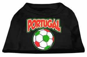Portugal Soccer Screen Print Shirt Black XL (16)