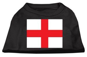 St. George's Cross (English Flag) Screen Print Shirt Black XL (16)