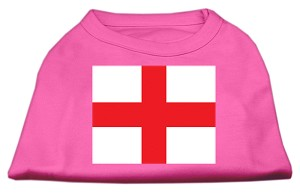 St. George's Cross (English Flag) Screen Print Shirt Bright Pink XXL (18)