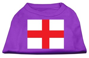 St. George's Cross (English Flag) Screen Print Shirt Purple Med (12)
