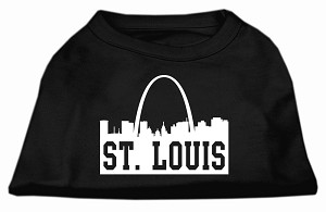 St Louis Skyline Screen Print Shirt Black Sm (10)