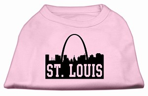 St Louis Skyline Screen Print Shirt Light Pink Med (12)