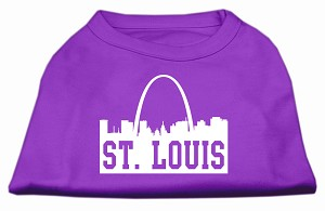 St Louis Skyline Screen Print Shirt Purple Sm (10)