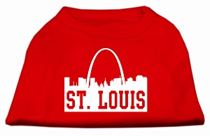 St Louis Skyline Screen Print Shirt Red XL (16)