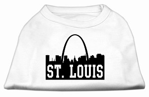 St Louis Skyline Screen Print Shirt White Lg (14)