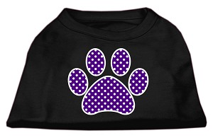 Purple Swiss Dot Paw Screen Print Shirt Black XXXL (20)