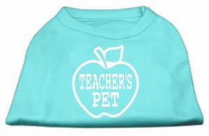 Teachers Pet Screen Print Shirt Aqua XXXL(20)