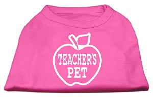 Teachers Pet Screen Print Shirt Bright Pink XXL (18)