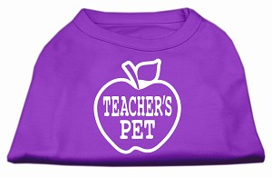 Teachers Pet Screen Print Shirt Purple XL (16)