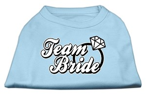 Team Bride Screen Print Shirt Baby Blue XL (16)