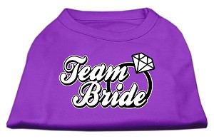 Team Bride Screen Print Shirt Purple XS (8)