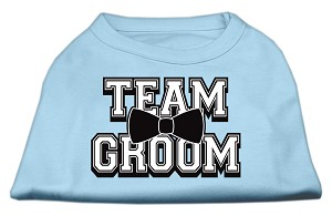 Team Groom Screen Print Shirt Baby Blue XS (8)
