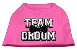 Team Groom Screen Print Shirt Bright Pink Lg (14)